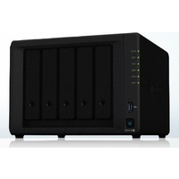 "Synology DiskStation DS1019+ 5-Bay 3.5"" Diskless 4x 1GbE Ethernet NAS (Tower) Intel Celeron J3455 quad-core 1.5GHz"
