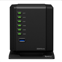 "Synology DiskStation DS419slim 4-Bay 2.5"" Diskless NAS Dual Core CPU 512MB RAM"