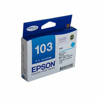 Epson 103 High Yield Cyan Ink Cartridge 815 pages