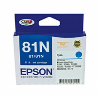 Epson 81N HY Cyan Ink Cart 805 pages Cyan