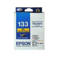 Epson 133 - Standard Capacity DURABrite Ultra – 5 x Ink Cartridge Value Pack