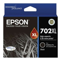 Epson 702XL High Capacity DURABrite Ultra Black Ink Cartridge