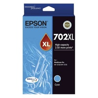 Epson 702XL High Capacity DURABrite Ultra Cyan Ink Cartridge