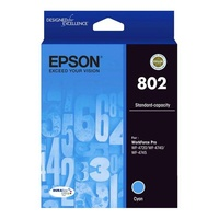 Epson 802 Standard Capacity DURABrite Ultra Cyan Ink Cartridge