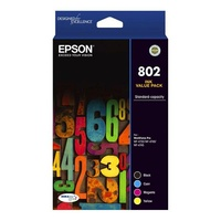 Epson 802 Standard Capacity DURABrite Ultra CMYK Colour Ink Cartridge Pack