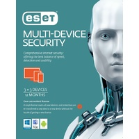 ESET Multi Device Security 3 Windows PCs or Macs or Linux + 3 Android Mobile Devices 1 Year 2021  License Key
