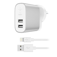 Belkin Boost Charge 2-Port 2.4A Home Charger with 1.2M Lightning to USB Cable