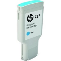 Hewlett Packard 727 300ML CYAN DESIGNJET INK CARTRIDGE