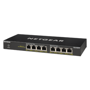 Netgear SOHO 8-port PoE+ Gigabit Unmanaged Switch (83W PoE Budget) (GS308PP)
