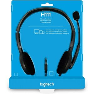 Logitech H111 3.5 mm Analog Stereo Headset with Boom Microphone - Black(15286927)