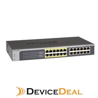 NETGEAR JGS524PE ProSAFE Plus 24-Port Gigabit Rackmount Switch with 12 Ports PoE