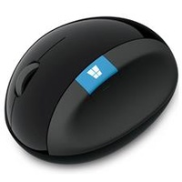 Microsoft Wireless Scuplt Ergonomic USB Optical Mouse - Black L6V-00006