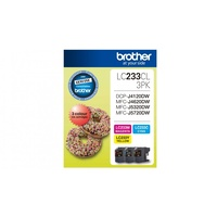 Brother LC233CL3PK Ink Cartridge - Magenta/Yellow/Cyan