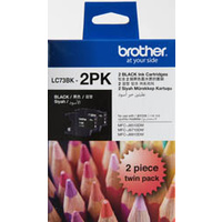 Brother LC73BK2PK Black Ink Cartridge Twin PACK
