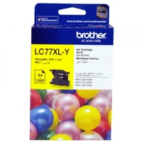 Brother LC-77 XL Yellow Printer Ink Cartridge LC77XLY