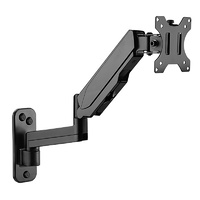"Brateck Single Screen Wall-Mounted Gas Spring Monitor Arm 17""-32"" - Black"