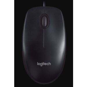 Logitech M90 USB Wired Optical Mouse 1000dpi for PC Laptop Mac Full Size Comfort smooth mover - OEM