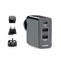 mbeat« Gorilla Power 45W USB-C Power Delivery (PD 2.0) and Dual USB-A World Travel Charger