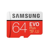 Samsung EVO Plus microSD Card (SD Adapter) 64GB
