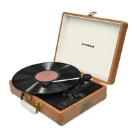 mbeat Retro Turntable Recorder with Bluetooth and USB Direct Recording