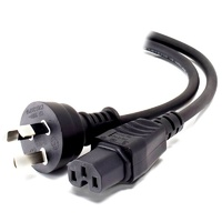 Alogic 1m Aus 3 Pin Mains Plug to IEC C15 High Temperature (M/F)