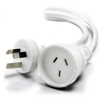 Alogic 15m Aus 3 Pin Mains Power Extension Cable White (M/F)