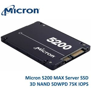 Micron 5200 MAX 960GB 2.5' SATA3 6Gbps 5DWPD SSD 3D TLC NAND 540R/520W MB/s 95K/75K IOPS 7mm Server Data Centre 3 Mil hrs 5yrs Crucial