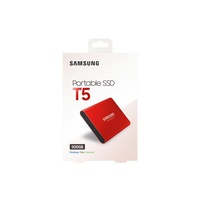 Samsung T5 Portable SSD 500GB/Up to 540MB/Sec Transfer speed/Metallic Red/51g