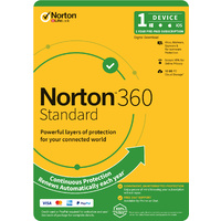 Norton 360 Standard 10GB -1 User -1 Device -12 Months PC, MAC, Android, iOS