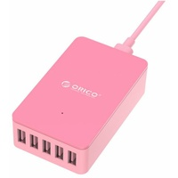 ORICO 40W 5 x Port 2.4A Smart Desktop Charger - Pink