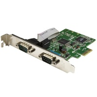 StarTech 2-Port PCI Express Serial Card with 16C1050 UART - RS232 PEX2S1050