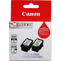 Canon PG-645 CL-646 XL Twin Pack Ink Cartridge