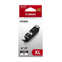 Canon PGI650XL Black Ink Cart 500 A4 pages (ISO/IEC 24711) Black