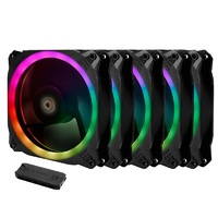 Antec Prizm 120 ARGB 5+C PWM Case Fan - 5 Pack with Controller