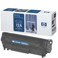 HP 12A Black Toner Cartridge 2K pages (Q2612A)