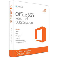 Microsoft Office 365 Personal English APAC DM Subscr Medialess P2 - 1 Year (QQ2-00645)