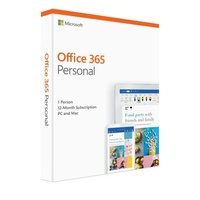 Microsoft Office 365 Personal 1 Year Subscription Medialess 1 User 2019 Edition for PC and Mac. (Replace SMSOPERS365SUBP2  QQ2-00645)