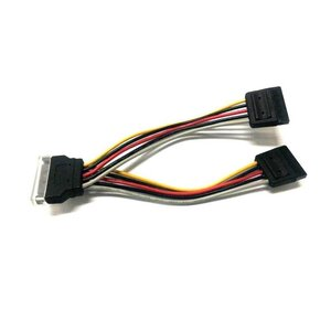 8Ware SATA Power Splitter Cable 1 x 15 pin M - 2 x 15 pin F 15cm
