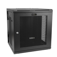 StarTech 12U Wall-Mount Server Rack Cabinet - Up to 17 in. Deep - Hinged Enclosure RK12WALHM