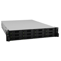 Synology RackStation RS2418+ 12-Bay Scalable Diskless NAS - Quad-Core 2.1GHz CPU