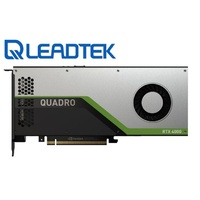 Leadtek nVidia Quadro RTX4000 PCIe Workstation Card 8GB GDDR6 3xDP1.4 5K 4x4096x2160@120Hz 1xVirtualLink 256-Bit 416GB/s 2304 Cuda 288 Tensor 36 RT