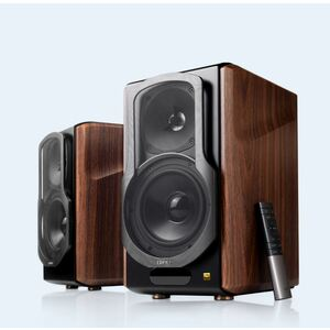 Edifier S2000MKIII 2.0 Lifestyle Active Bookshelf Bluetooth Studio Speakers - BT/AUX/Optical/Coaxial 124W RMS MDF Wood Panel