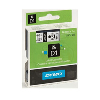 Dymo Blk on Clr 6mm x7m Tape 6mm x 7m