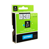 Dymo Blk on Wht 19mmx7m Tape 19mm x 7m