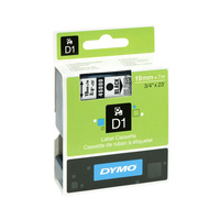 Dymo Wht on Blk 19mmx7m Tape 19mm x 7m