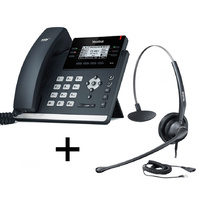 Yealink SIP-T41S Ultra-elegant 6 Line IP Phone USB Port, Opus Support - Bundle Promotion