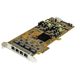 STARTECH 4 Port Gigabit PoE PCIe Network Card