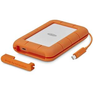 "LACIE RUGGED 2.5"" 4FT DROP RESISTANT 5TB THUNDERBOLT, USB-C"