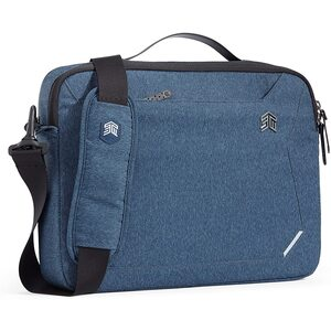STM STM Myth Fleece-Lined Brief Case with Removable Strap for 13-Inch Laptop - Slate Blue