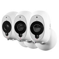Swann SWWHD-INTCAMPK3 Smart Security 1080P Battery Camera with 3 x 1080p Full HD Wireless Cameras